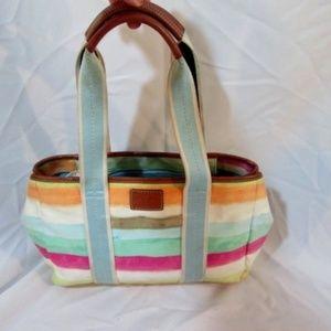 COACH 10067 WATERCOLOR STRIPE Shoulder Bag